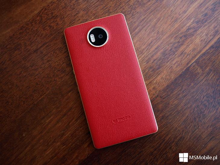 Czerwone etui Mozo dla Lumia 950 XL
