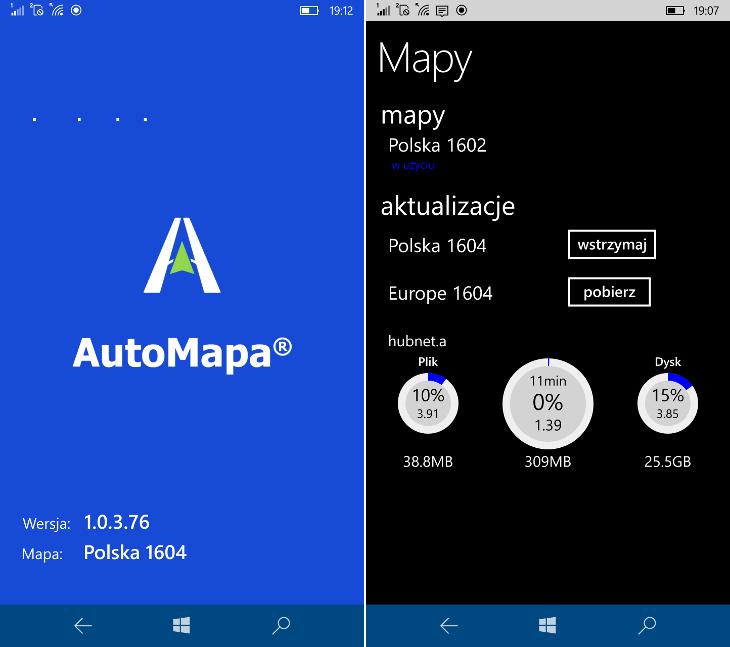 AutoMapa 1.0.3.76 i mapy 1604
