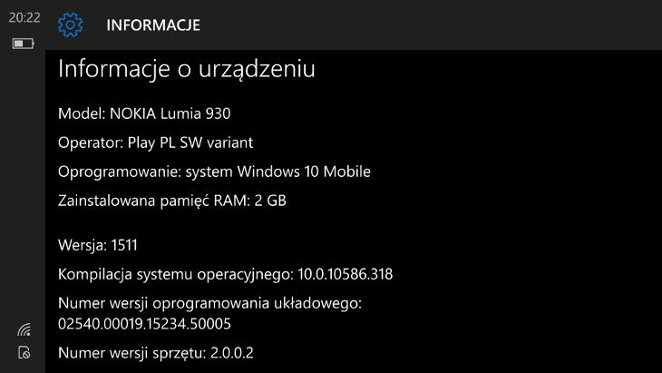 Windows 10 Mobile Build 10586.318