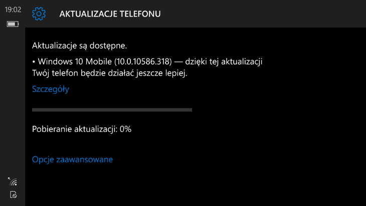 Windows 10 Mobile Build 10586.318
