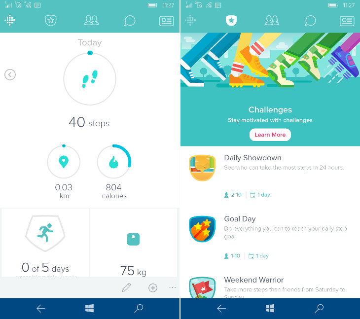 Fitbit Windows 10 Mobile