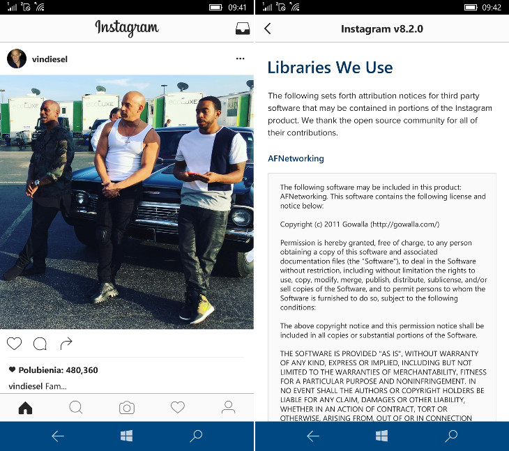 Instagram dla Windows 10 Mobile