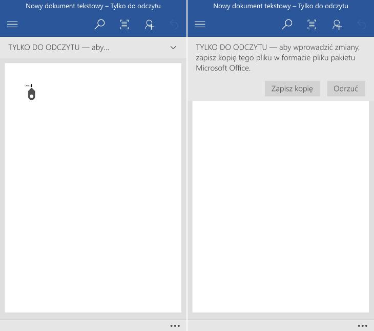 Otwieranie plików TXT w Windows 10 Mobile