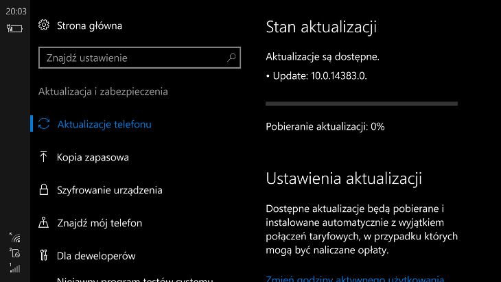 Windows 10 Mobile Build 14383