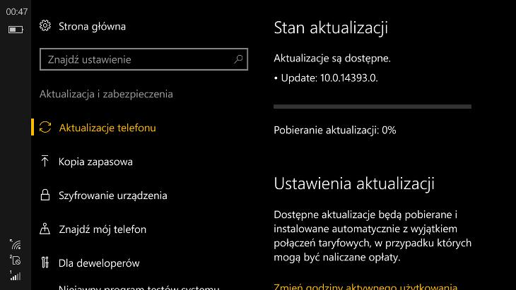 Windows 10 Mobile Build 14393