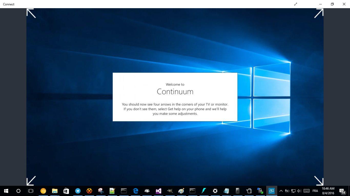 Continuum na telefonie Lumia 830