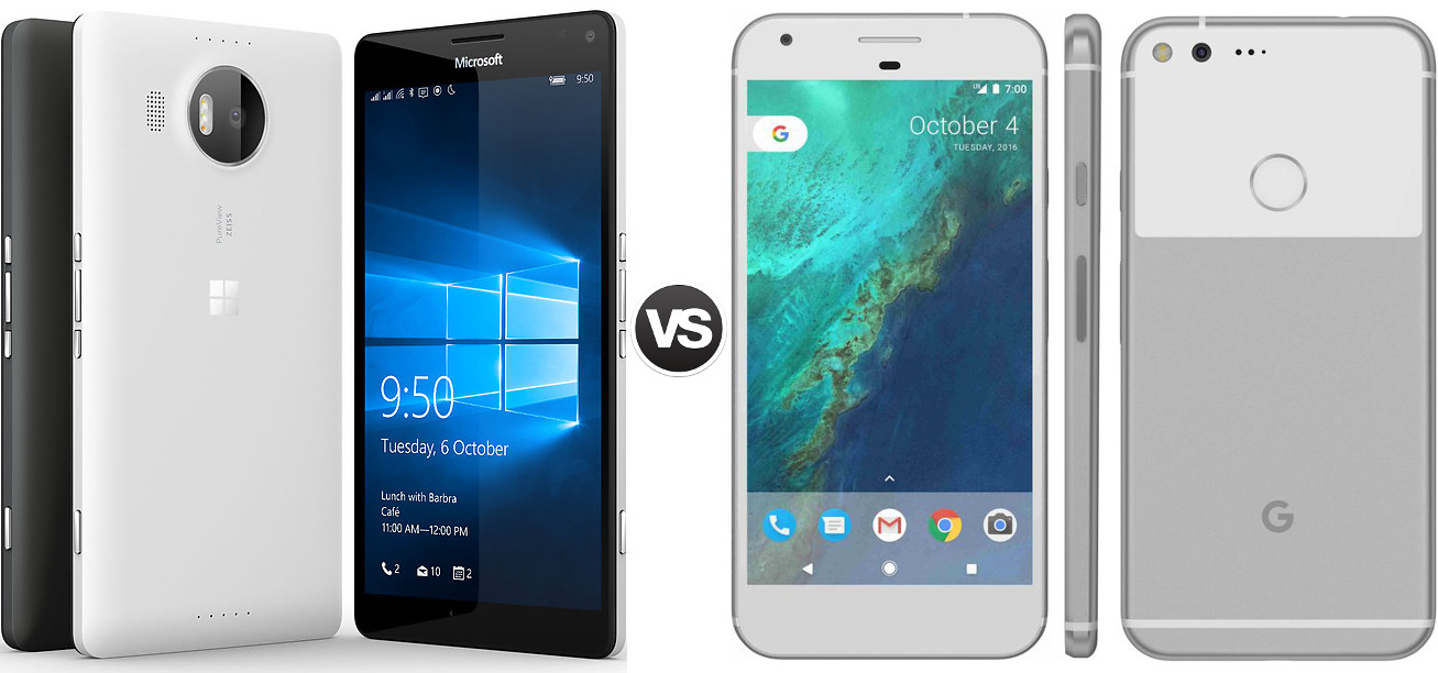 Lumia 950 XL vs Pixel 950 XL