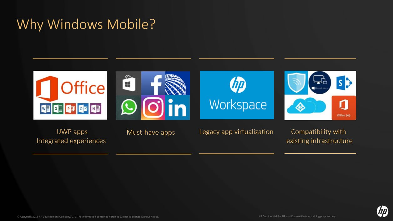 HP Windows 10 Mobile