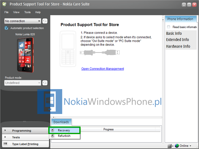 Nokia Care Suite - Programming - Recovery